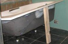 Самостоятельная установка чугунной ванны