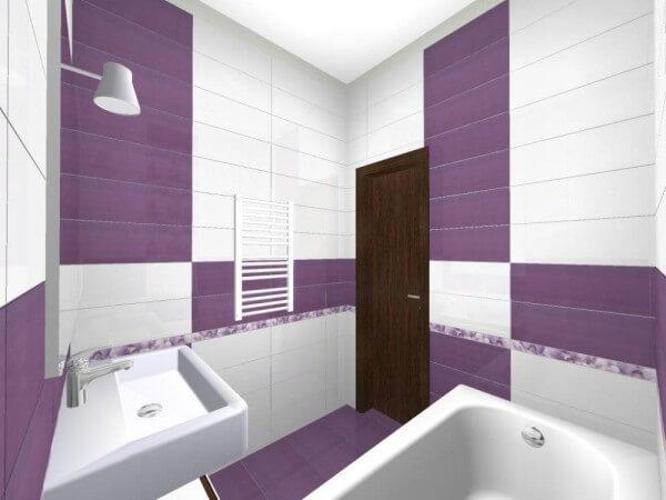 фиолетовая плитка