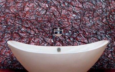 Добавим экзотики в дизайн ванной комнаты с помощью венецианской штукатурки