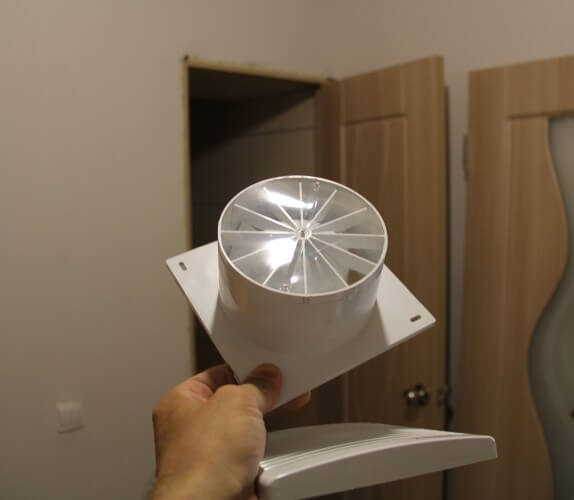 монтаж вентилятор