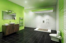 Выбираем зеленую плитку для ванной комнаты