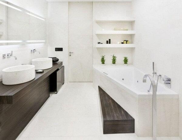 стиль белый ванна