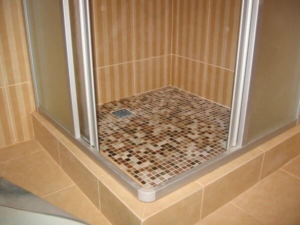 матовая плитка душ