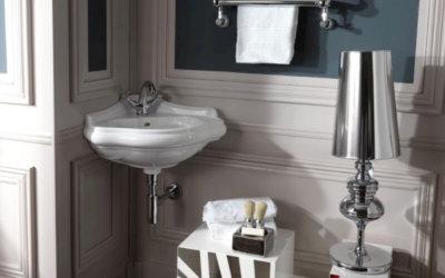 Незаменимые угловые раковины в обстановке ванной комнаты
