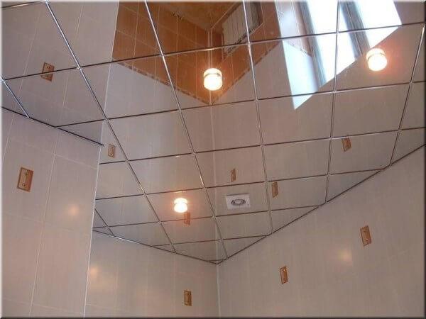 зеркало потолок